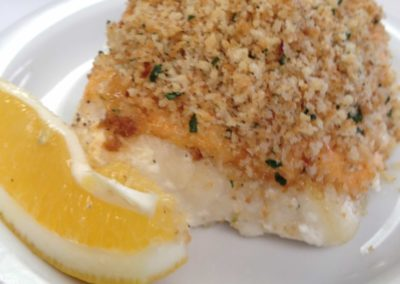 Roast Cod with crispy breadcrumbs