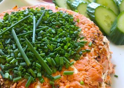 7 layer smoked salmon terrine
