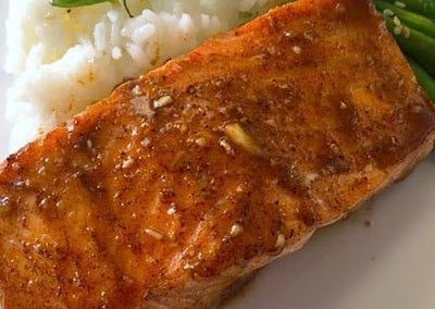 honey five spice salmon