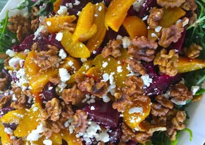 roasted beet salad with oranges and toasted walnuts