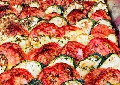 zucchini and tomato gratin